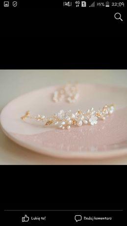 Komplet Srebrnej Biżuterii Ślubnej