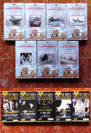 Cassetes VHS Diário II Guerra Mundial + Filmes Grandes Realizadores