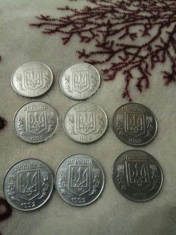 Продам монеты 5 коп.25.коп.50коп.1992год.