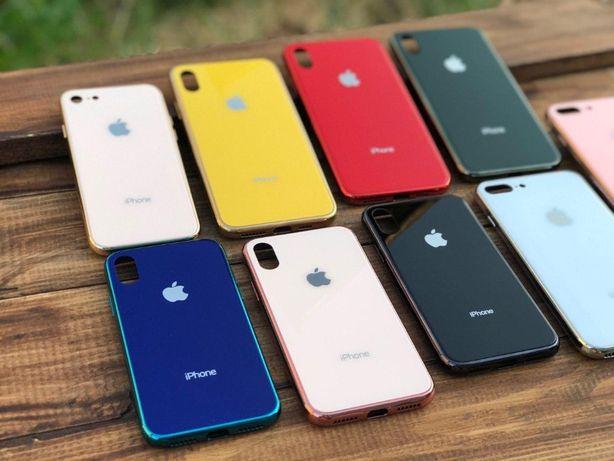 Стеклянный на айфон Iphone чехол 7 8 X XS PRO MAX 6 6s PLUS XR MAX 11