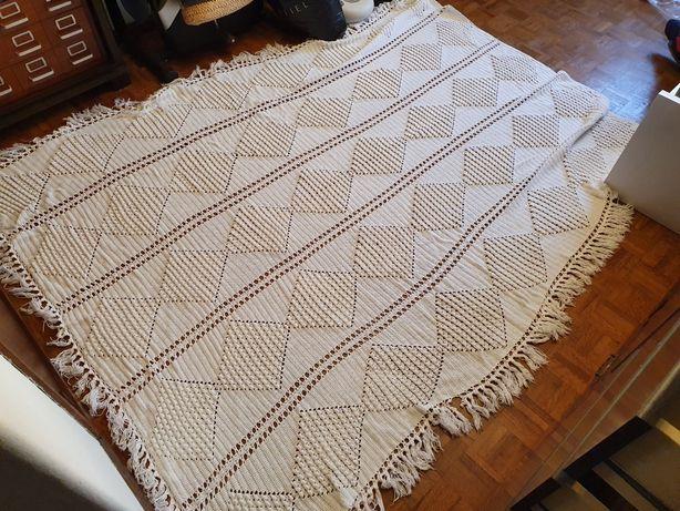Colcha Casal em renda crochet