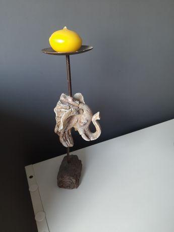 Świecznik słoń dekoracja
