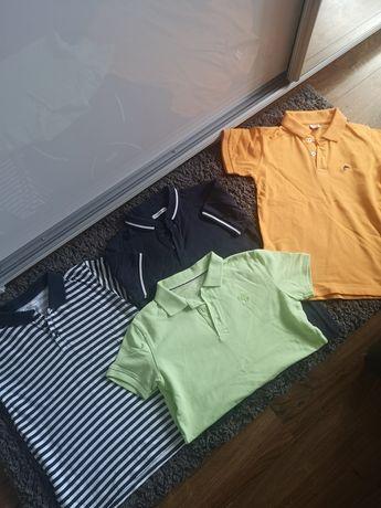 Koszulki polo rozm. 134-140 idealne jak nowe