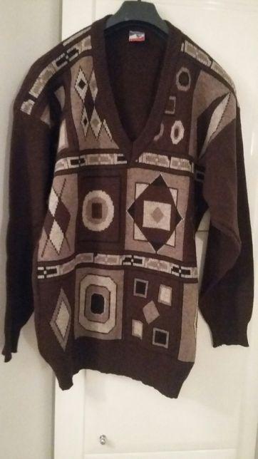 Sweter brązowy firmy Shetland