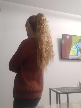 Довгий хвилястий накладний хвіст накладне волосся