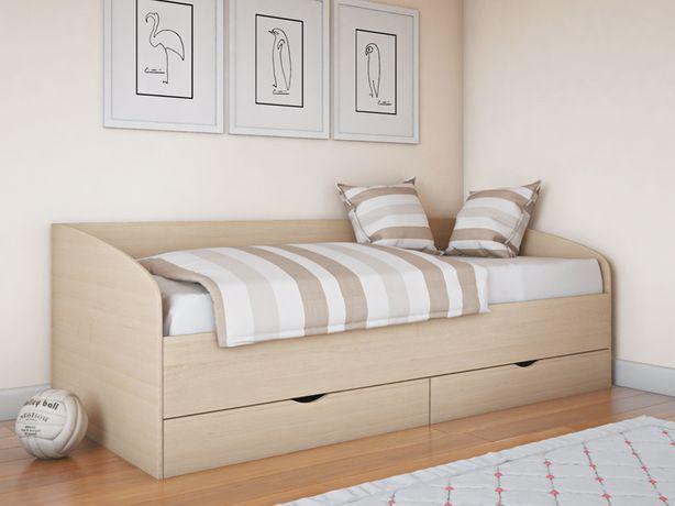 Удобная детская кровать Соня-3 с ящиками, подростковая кровать 190х80