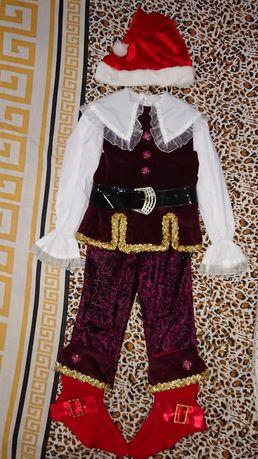 Шикарный новогодний карнавальный костюм Гнома Гномика Принца Морозко