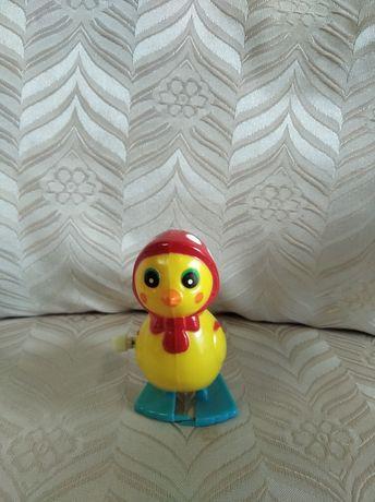 Stara zabawka nakręcana kura kaczka vintage PRL