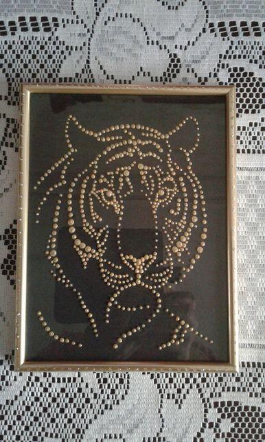 Картина Тигр ручной работы