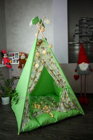 Красивые палатки. 100% хлопок. Вигвамы для деток. Детские шалаши.