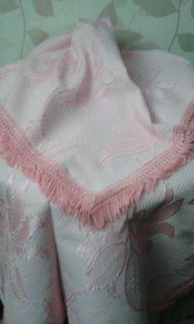 colcha em seda rosa
