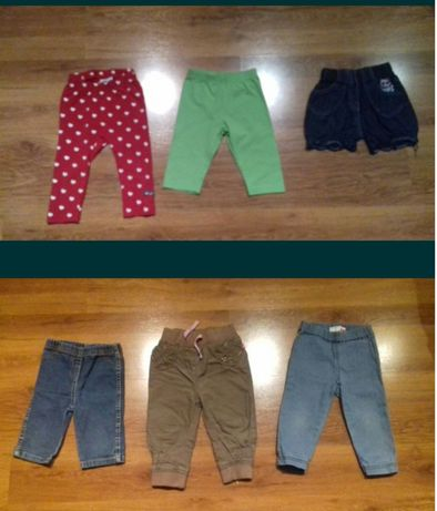 Spodnie, geterki, krótkie spodenki 74, 80, 86