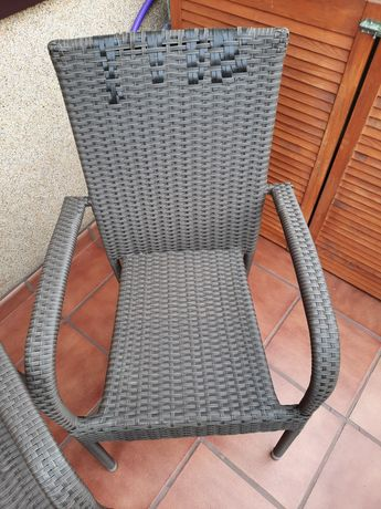 Krzesła ogrodowe technorattan