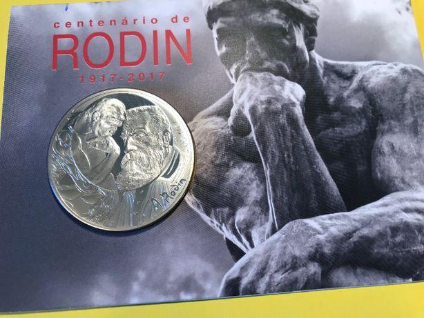 """Moeda Francesa de 100€ em Prata Proof do """"Centenário de Rodin"""""""