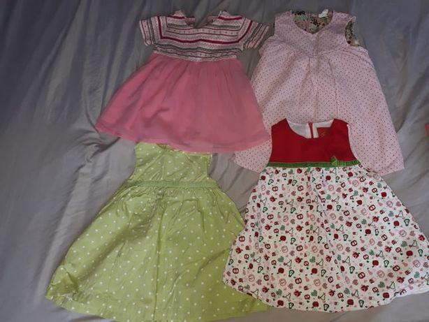 Paka paczka ubrania ubrań dla dziewczynki pajac sukienka 68 74 80