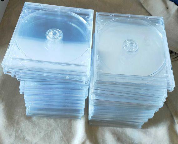 Jewel case cd dvd transparente pack 40 usado