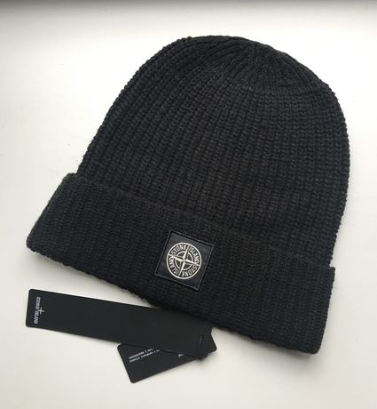 Шапка Stone Island Wool Hat Black (C.P. Company)