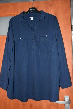 Koszula granatowa H&M mama ciążowa bawełniana roz XL