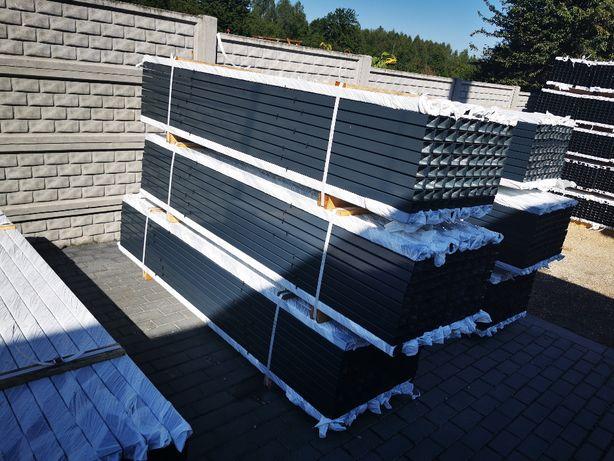 Słupki ogrodzeniowe grafitowe 60x40 RAL 7016 2m i 2,3m