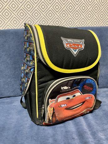 1 вересня Ортопедический каркасный рюкзак, ранец Тачки для 1-4 класса
