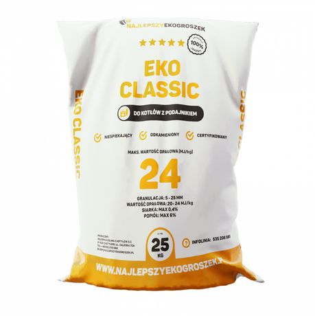 Najlepszy Ekogroszek Workowany 24MJ/kg- 1000kg