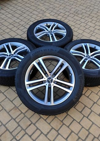 Диски с резиной R20 Mercedes GLE W167 ML GLS GLC Continental 5/112