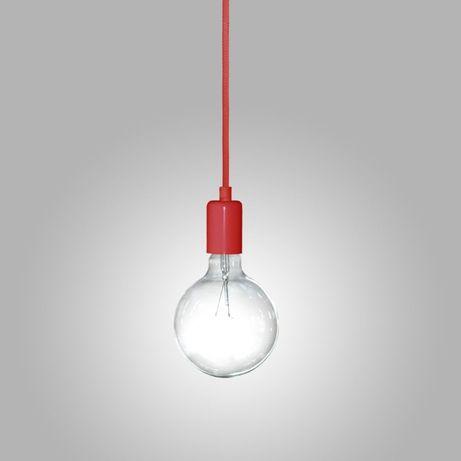 Metalowa oprawa z kablem, kabel na żarówkę styl skandynawski lampa