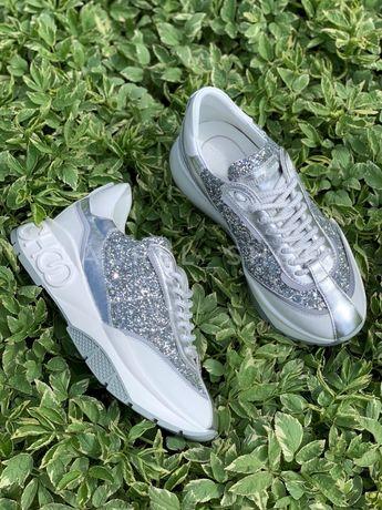Белые кеды кроссовки jimmy Choo LV Chanel Dior