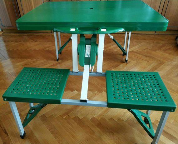 Стол трансформер для пикника,  кемпинга в чемодане со стульчиками