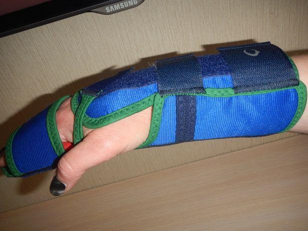 Ортез шина лучезапястный сустав с опорой для пальцев Omnimed p.Lправый
