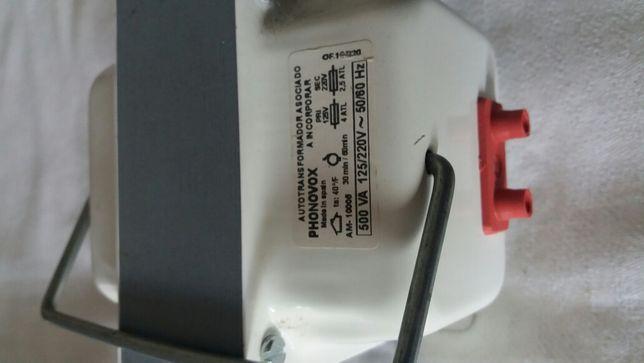Transformador 220v / 125v - 500VA novo