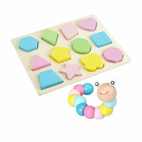 Деревянная игрушка Lesko DL-003 Board + Worm для детей развивающая