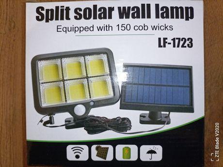 Светильник уличный прожектор,фонарь led, с солнечной панелью.