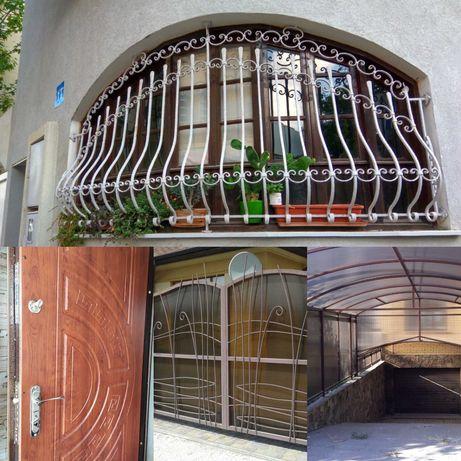 Металлические двери, решетки.