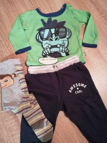 Spodnie, body i rajstopki r. 74
