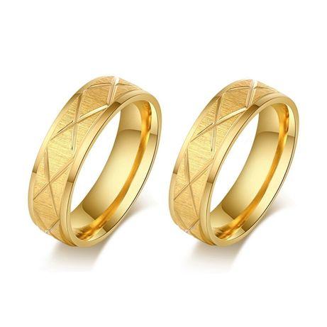 Gustowna Para Złotych Obrączek Ślubnych