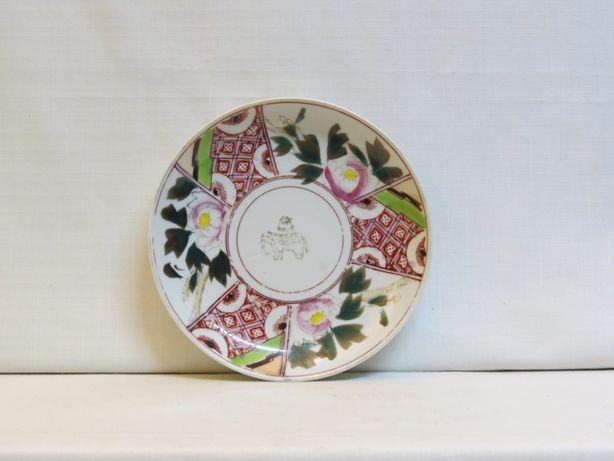 Prato porcelana japonesa decorado em esmaltes da Família Verde-18.5cm