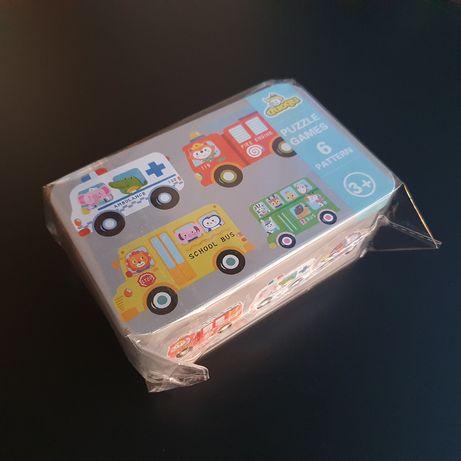 Puzzle w kształcie samochodów