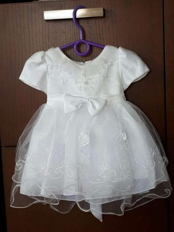 Sukienka do chrztu 74 cm