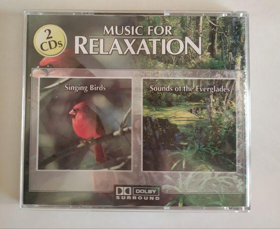 Dźwięki relaksacyjne dwie płyty CD.