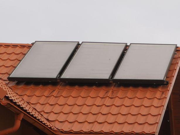 Solary 300L 3 panele. Kolektory słoneczne pełny zestaw.