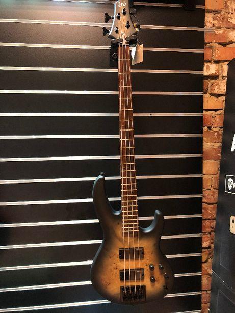 LTD D-4 Black Natural Burst Satin - gitara basowa 4 strunowa