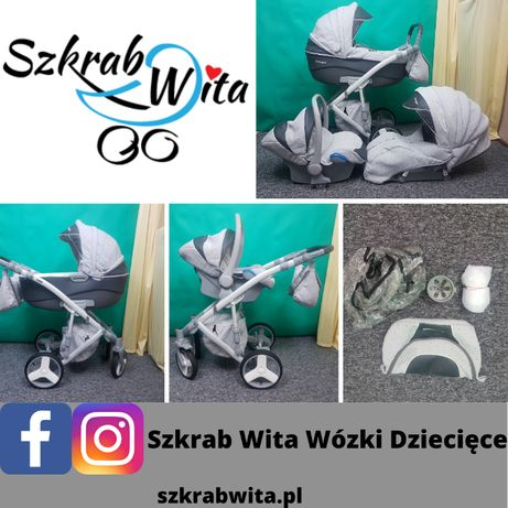 Wózek camarelo avenger 3w1 stan idealny SZKRAB WITA