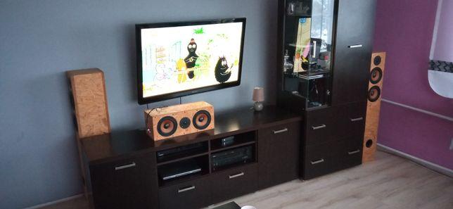 Meble RTV, komoda i szafa,  podświetlana witryna