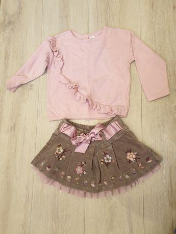 Весенний лук(юбка next кофта) 2 3 года( 24 36 м) 92 98 см