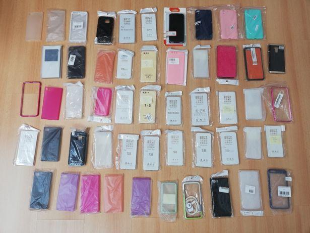 Lote de 50 capas para diversos telemóveis (NOVAS)