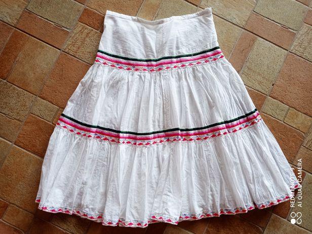 Biała vintage spodnica 36-38