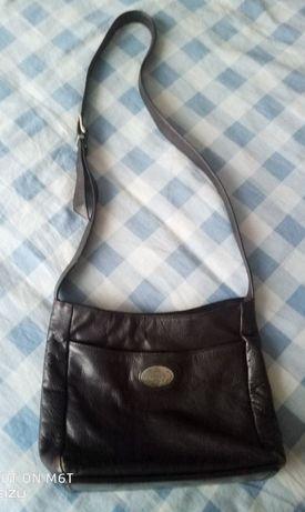 Шкіряна жіноча сумка через плече