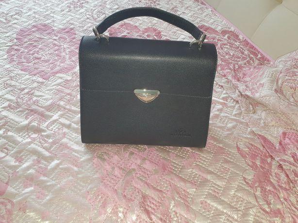 Skórzana torebka Wittchen czarna