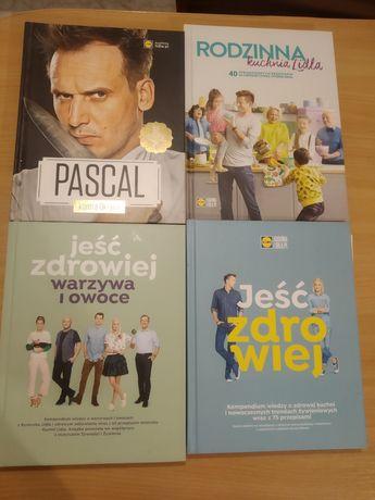 Książki kucharskie (4szt) - Pascal, Lidl